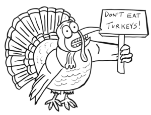 2018 Thanksgiving turkey coloring pages