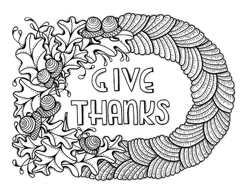 Thanksgiving coloring page 2018