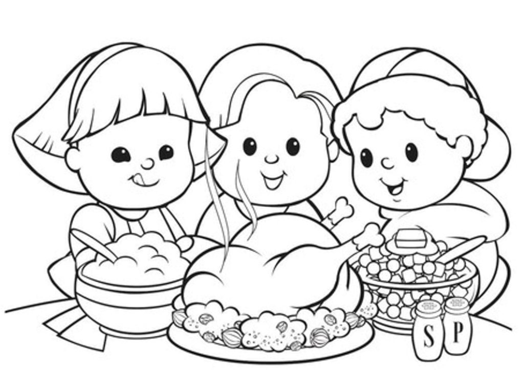 coloring pages Thanksgiving 2017