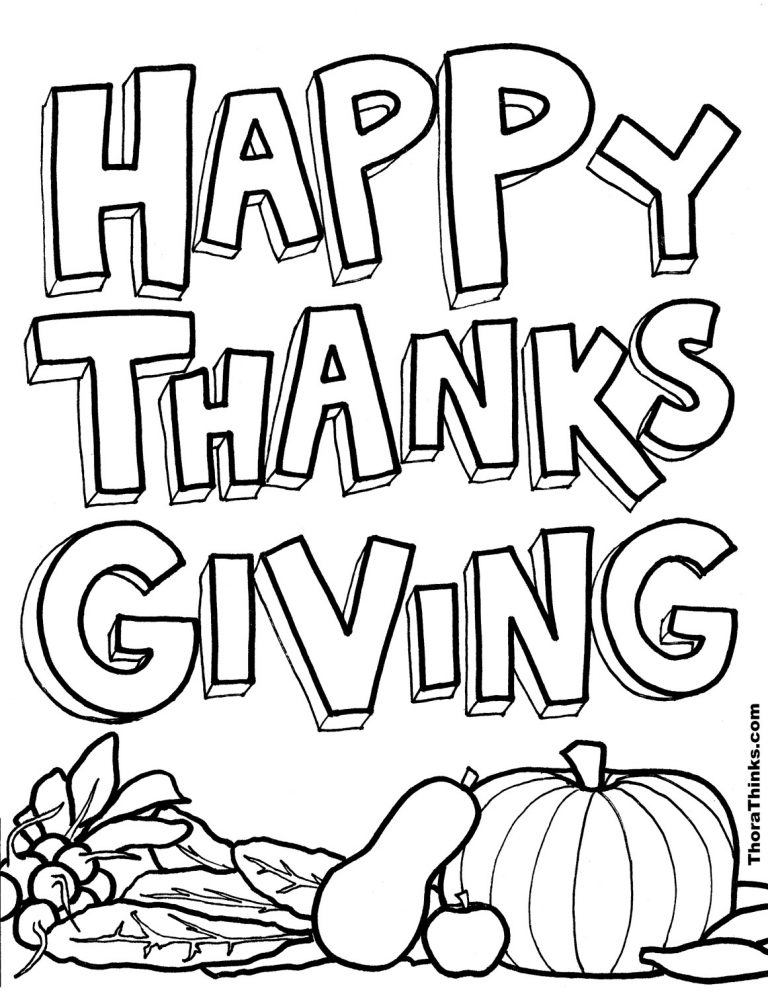 coloring pages for Thanksgiving