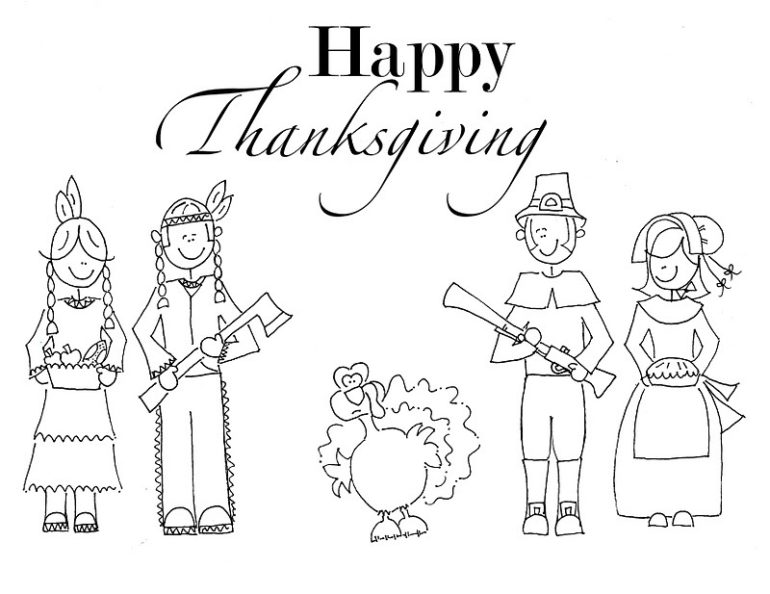free printable Thanksgiving coloring book
