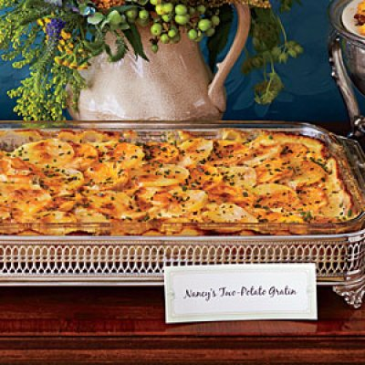 Healthy Thanksgiving Recipes - Two-Potato Gratin