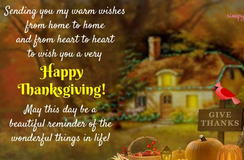 Advance Thanksgiving Greeting
