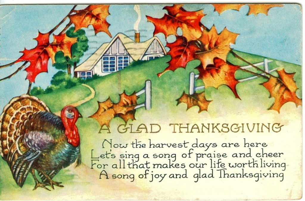 Advance Thanksgiving Message