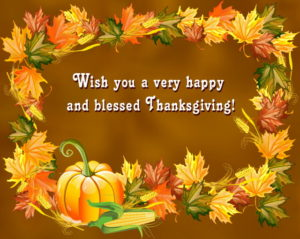 Advance Thanksgiving Wishes 2018