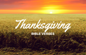 Happy Thanksgiving Bible Verses 2018