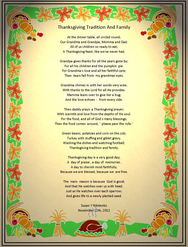 Happy Thanksgiving Poems For Church