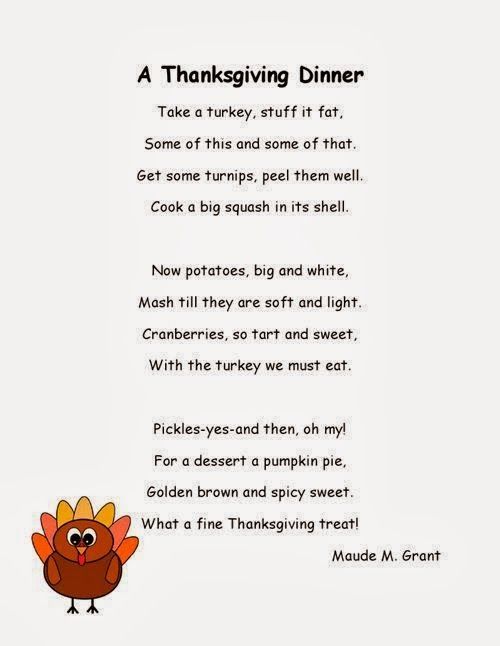 Happy Thanksgiving Poems For Kids