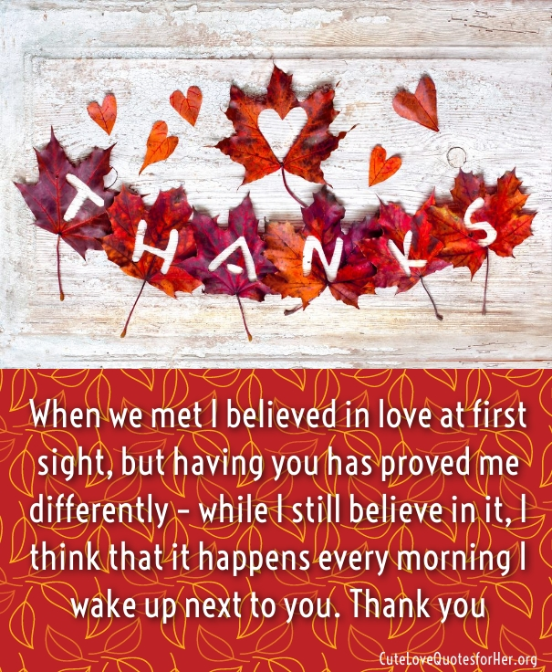 Romantic Thanksgiving Quotes
