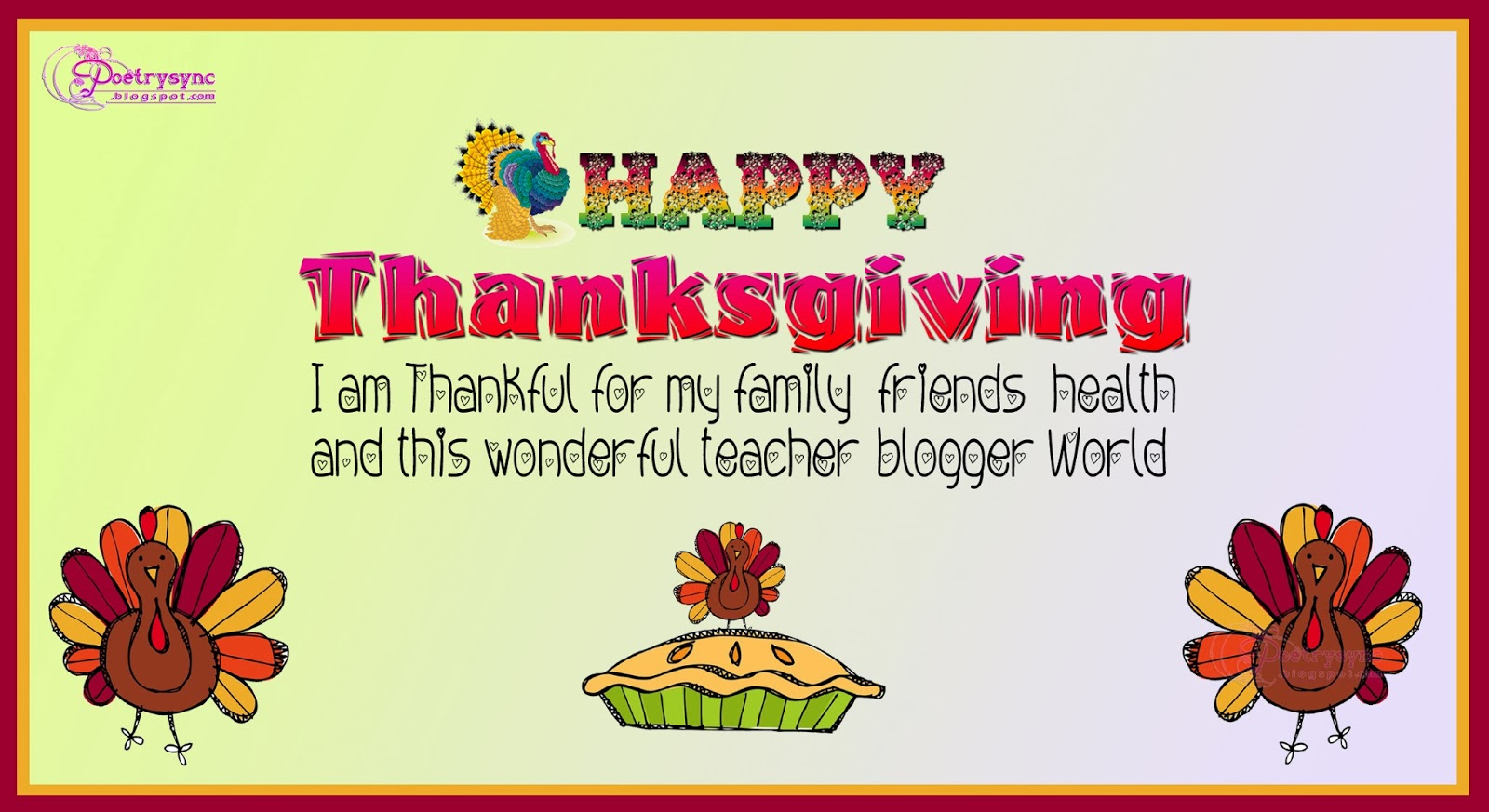 Thanksgiving Cards sayings