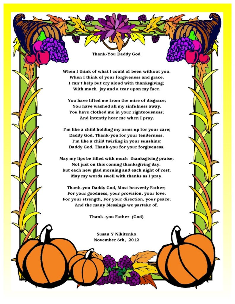 Christian Thanksgiving Poems
