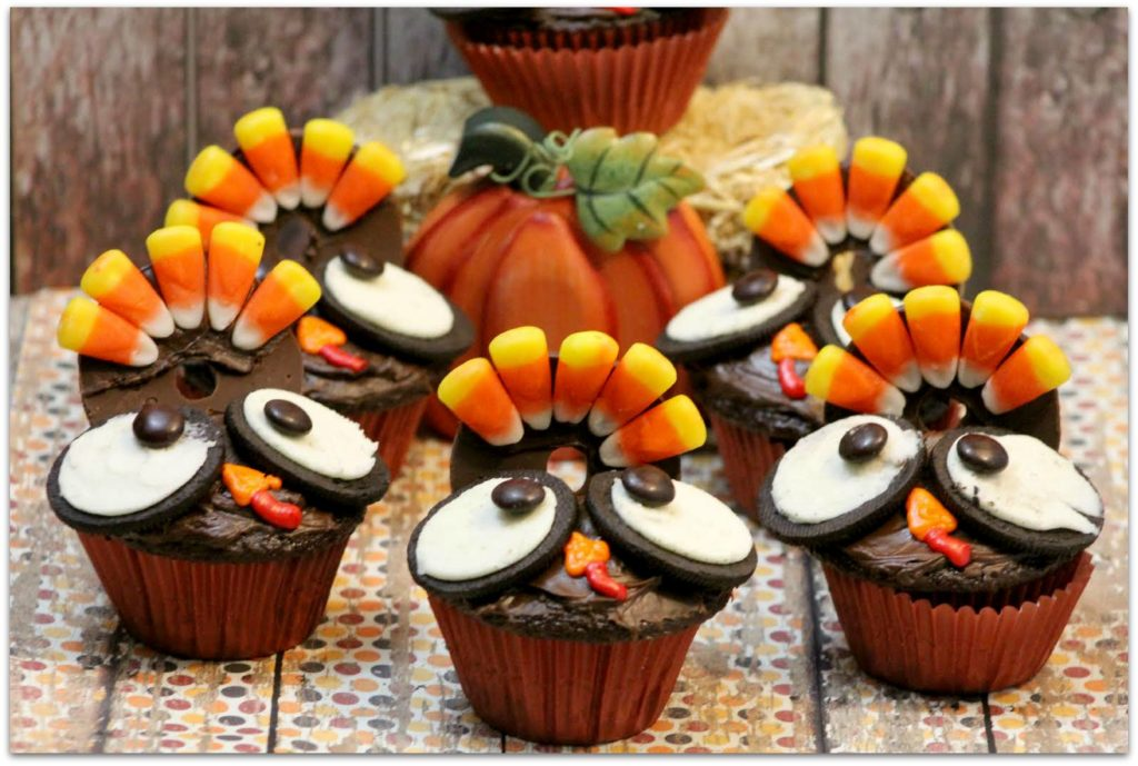 Thanksgiving Turkey CupcakesThanksgiving Turkey Cupcakes