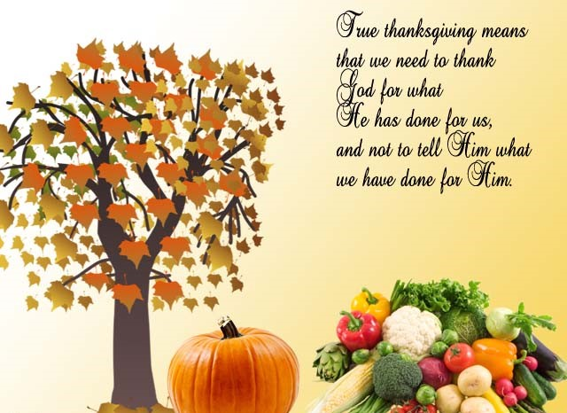 Thanksgiving Greeting Card sayings