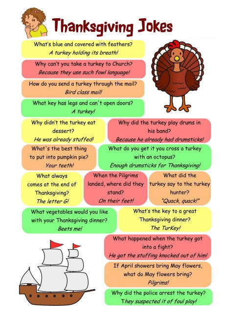 Thanksgiving jokes and riddles