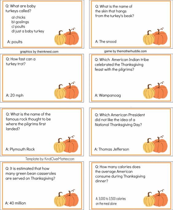 Thanksgiving trivia questions answers