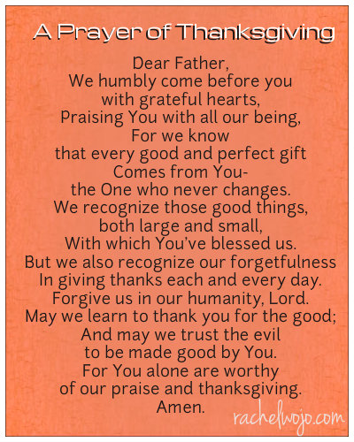 prayer for Thanksgiving dinner