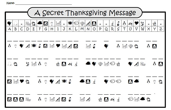 free Thanksgiving worksheet