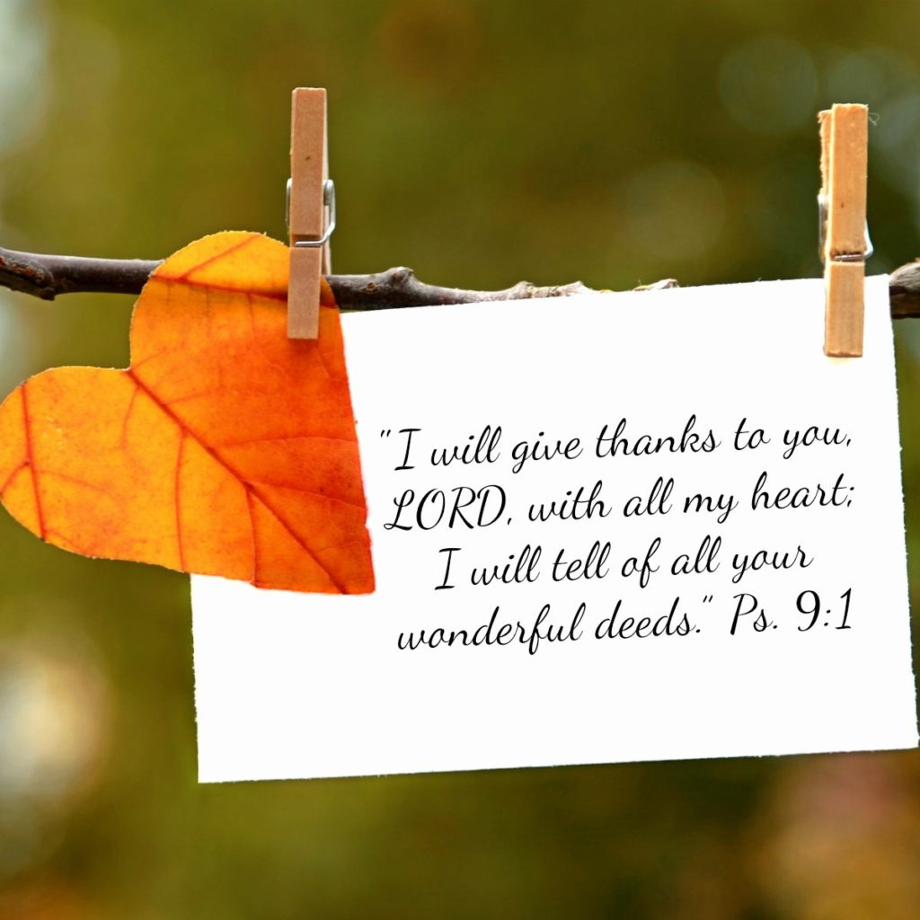 Verse in the bible about Thanksgiving