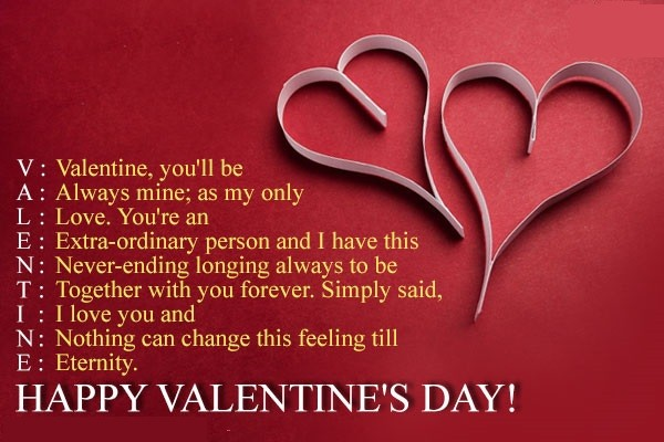 happy saint valentine day wishes