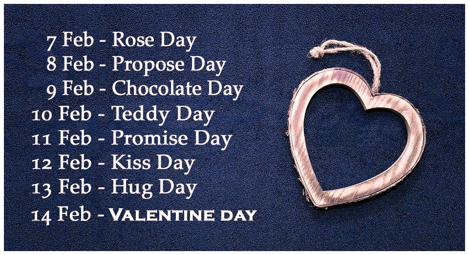 valentine day list 2019