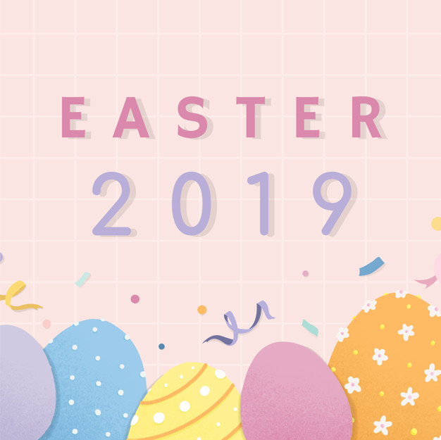 Happy Easter 2021 background vector
