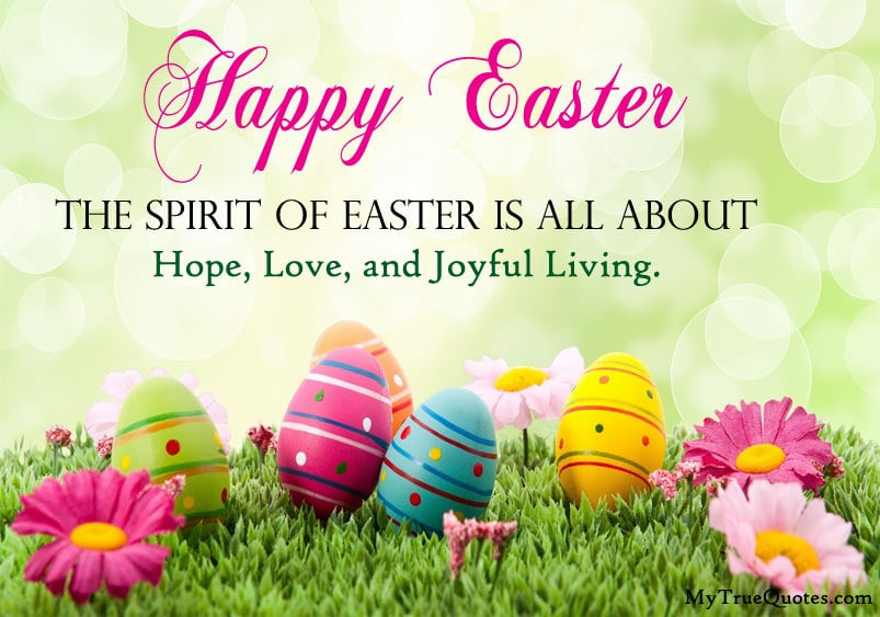 happy easter quotes Sayings