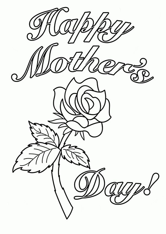 printable mothers day coloring page