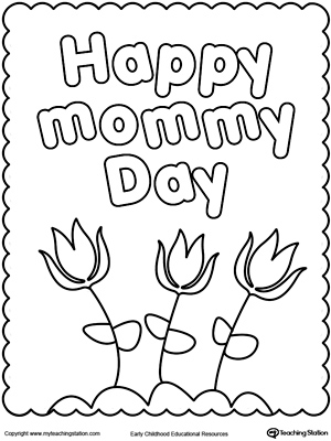 free coloring pages mothers day