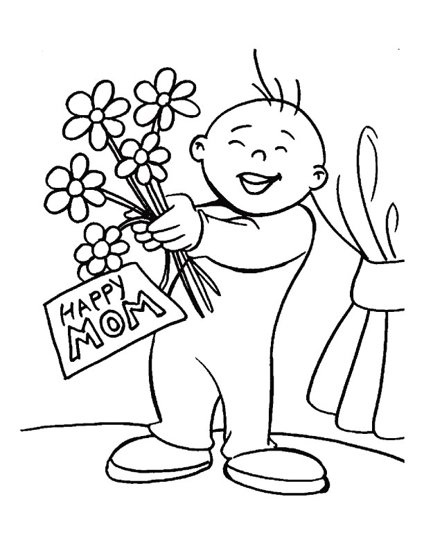 Happy Mothers Day Coloring Pages 2020