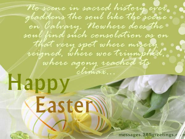 easter messages greeting