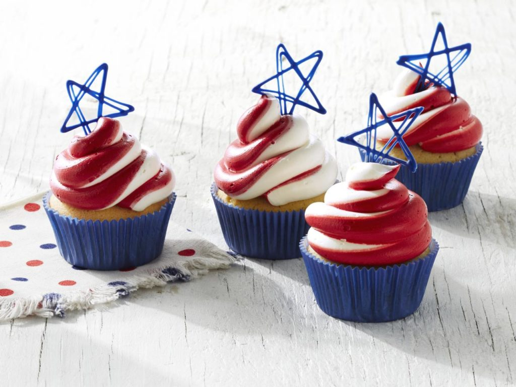 July 4th snowcone cupcake